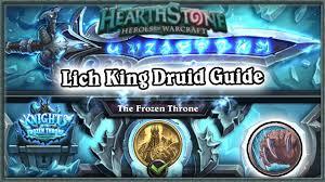 r druid deck kft hearthstone defeating lich king guide standard druid deck