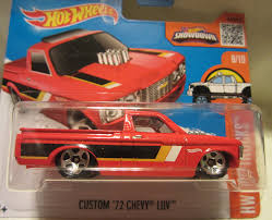 100 72 Chevy Trucks 2016 Hot Wheels Hot Custom LUV 810 Short Card 1
