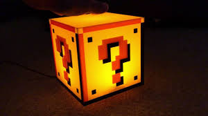 Mario Bros Question Block Lamp by My Home Is Complete Super Mario Bros Coin Block Lamp Light Youtube