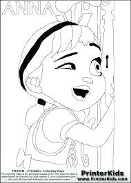 Free Frozen Coloring Pages Page Print Out Disney Anna Looking Through A