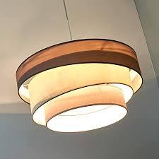 lindby pendelleuchte melia modern in braun aus textil ua für wohnzimmer esszimmer 3 flammig e27 a hängeleuchte esstischle