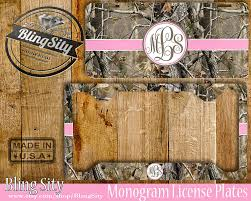 Realtree Floor Mats Pink by Pink Camo Monogram License Plate Frame Holder Metal Wall Sign Car