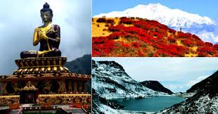 A Collage Of The Various Places To Visit In Gangtok