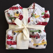 POTTERY BARN KIDS FIRETRUCK FLANNEL PAJAMAS SIZE 6 *WILLIAM* NEW ...