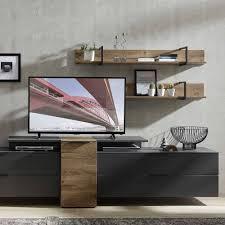set wohnzimmer anbauwand mit tv aufsatz nivita 6 teilig