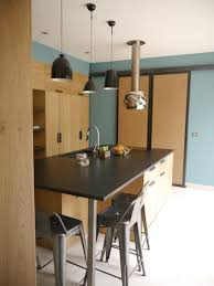 prix d une cuisine sur mesure cuisine ilot bois chêne scandinave réalisation de