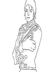 Printable Michael Jackson Coloring Pages For Kids