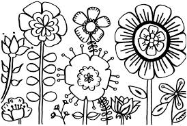 Spring Coloring Pages Flower Kids For
