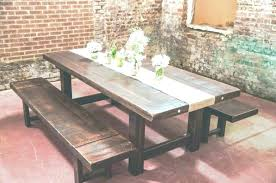 Farmhouse Dining Table With Bench Set Square Rustic Room Design Reclaimed