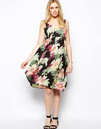 floral print hawaiian dress