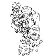 Despicable Me Coloring Pages Photo Image Books