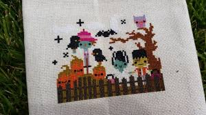 The Frosted Pumpkin Stitchery Facebook by Halloween Town By Melissa Project Cross Stitch Decorative