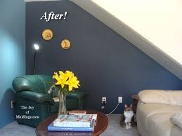 Dark Blue Paint Color Under Stairs