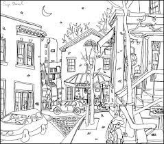 Church Street Starbucks Harvard Square Pen Ink Illustration Sage Stossel