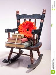100 Rocking Chair With Books Small And Flower Stock Photo Image Of