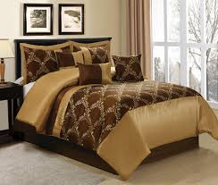Queen Size Bed In A Bag Sets amazon com 7 piece claremont medallion design bed in a bag brown