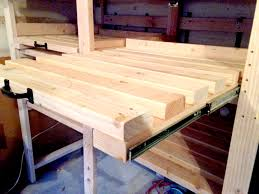 sliding storage shelves how to create additional garage storage