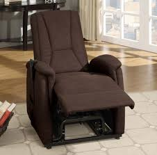 Dark Brown Fabric Power Lift Chair