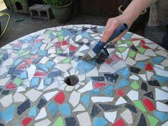 how to make mosaic tile table top from ceramic tiles tile
