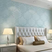 buy european 3d stereoscopic relief aqua blue non woven wallpaper