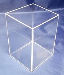 Clear Acrylic Tall 5 Sided Boxes Bottom Or Top Open