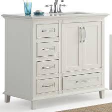 46 Inch White Bathroom Vanity by Simpli Home Ariana 36