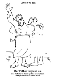 Prodigal Son Dot To Coloring Page