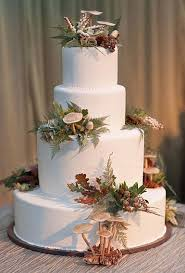Fall Wedding Cake Designs With Floral Decoration 2011 Ideas Nature Fondant