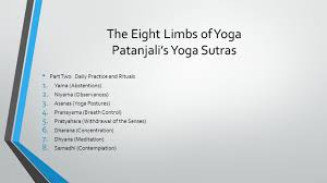 The Eight Limbs Of Yoga Patanjalis Sutras