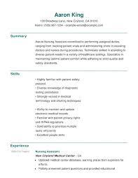 Nursing Functional Resumes