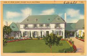 100 Holmby Home Of Irene Dunne Hills California Digital Commonwealth
