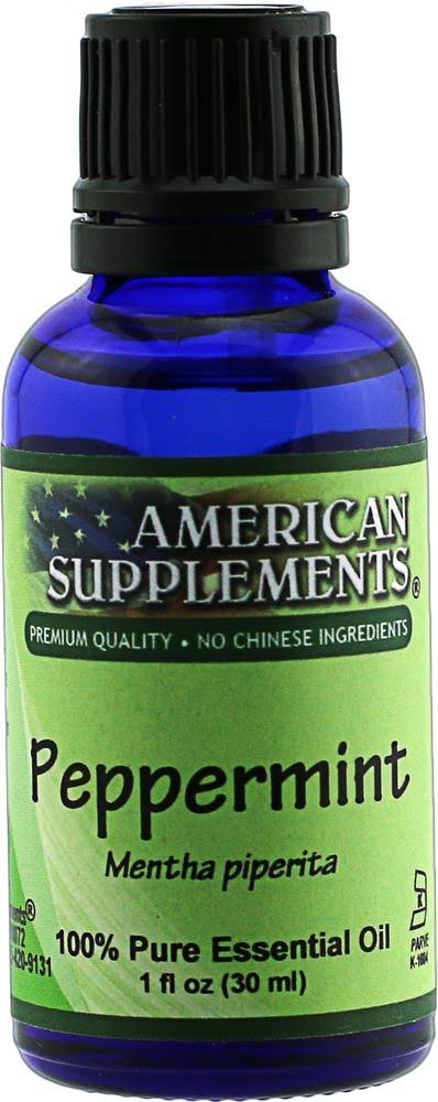 American Supplements Peppermint Essential Oil - 1 oz Oil