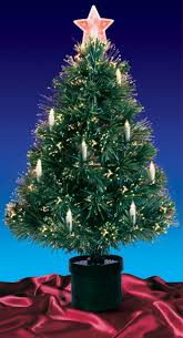 3 Pre Lit Fiber Optic Artificial Christmas Tree With Candles