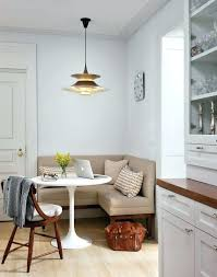 Corner Dining Seating Living Room Built In Table Kitchen Transitional With Dark
