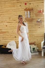 Rustic A Line Wedding Dress