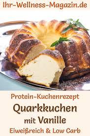 protein quarkkuchen mit vanille eiweißreiches low carb