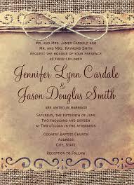 Rustic Country Vintage Burlap Wedding Invitation