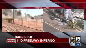 100 La Riots Truck Driver Escapes Massive Truck Fire At I1040th Street In Phoenix
