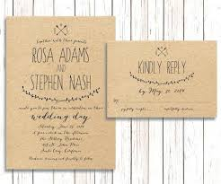 Idea Simple Rustic Wedding Invitations For Like This Item 64 Ideas