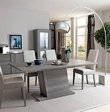 Dining Table With Grey Chairs Alluring Decor Fern Grey Gloss