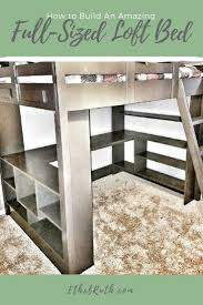 Queen Size Loft Bed Plans by Loft Bed Plans Full Size Loft Bed Do It Yourself Home Projects