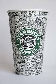 Sketched Starbucks Cups By Johanna Basford Great Images