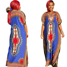 traditional africa long dress retro style dashiki maxi dress for
