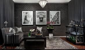 tapete in schwarz fürs wohnzimmer 25 ideen und beispiele