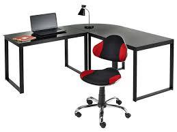 bureau angle noir bureau d angle blacky coloris noir vente de bureau conforama