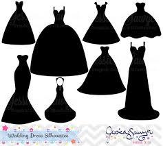 Black Dress Clipart Vintage Wedding 2497991