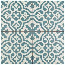 Home Depot Merola Hex Tile by Blue Ceramic Tile Tile The Home Depot