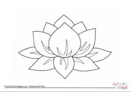 Lotus Flower Colouring Page