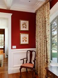 Rich Red Wallpaper Wows In Traditional Dining Room