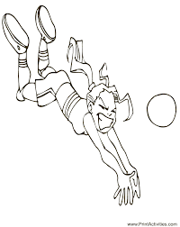 Summer Olympics Coloring Page Of A Girl Volleyball Player